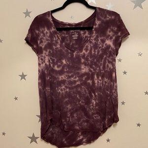 Purple tie dye top
